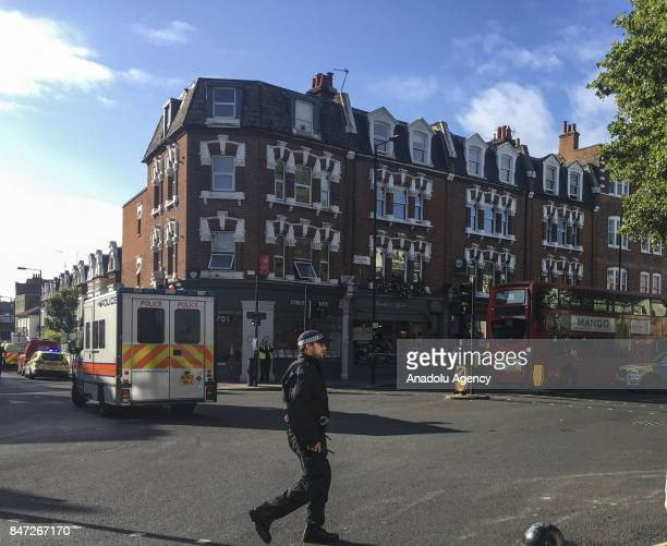 Police takes security measures after an explosion at Parsons Green Tube Station in London United Kingdom on September 15 2017