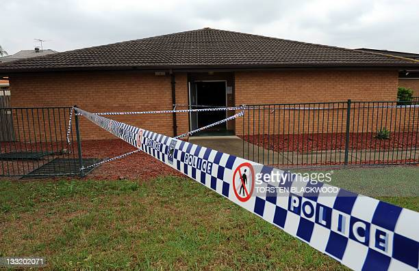 Police tape cordons off the building after a fire engulfed a nursing home for the elderly killing at least three and seriously injuring eight near...