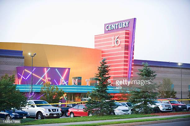 Police tape cordons off the parking area around the Century 16 movie theater in Aurora Colorado July 20 2012 where a gunman opened fire during the...