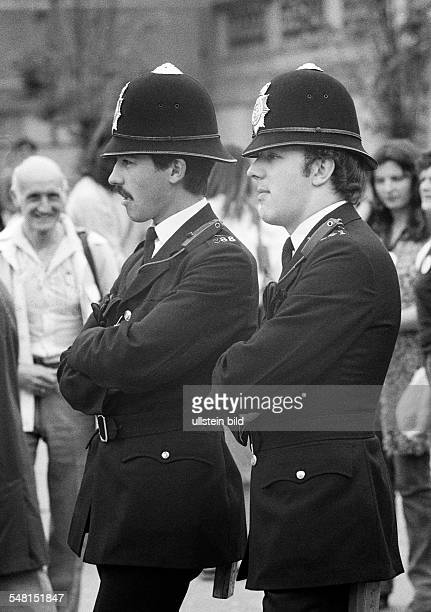 police two British policemen Bobbies aged 25 to 35 years Great Britain England London