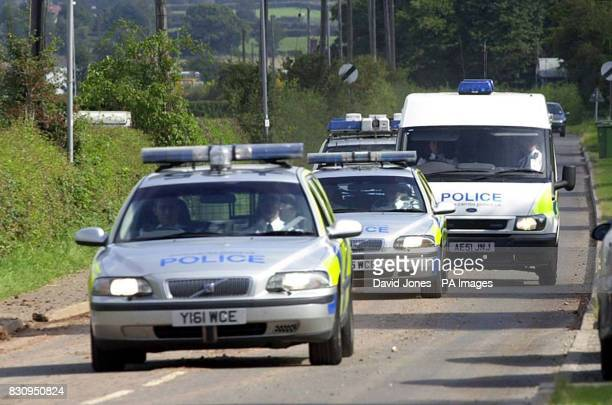 A police van believed to be carrying Ian Huntley returns to Rampton high security hospital from Peterborough Magistrates Courts Tuesday September 10...