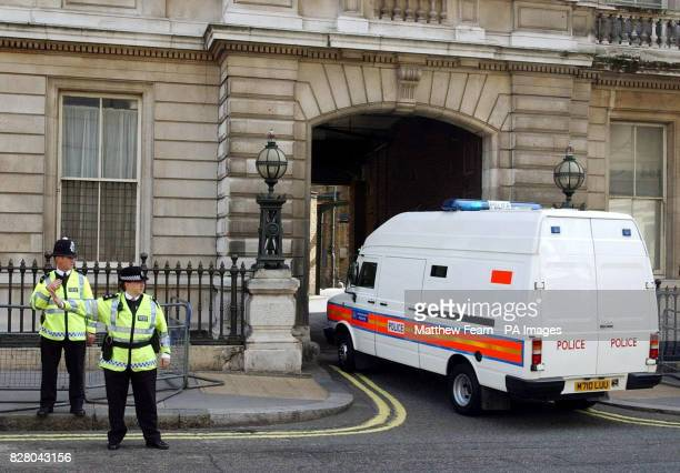 A police van carrying Ismael Abdurahman arrives at London's Bow Street Magistrates Court Abdurahman is the first person to be charged in connection...