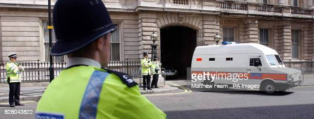A police van carrying Ismael Abdurahman leaves London's Bow Street Magistrates Court Abdurahman is the first person to be charged in connection with...