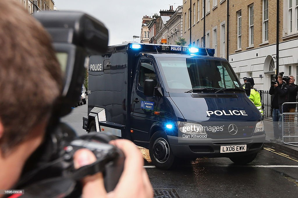 A police van drives Michael Adebowale into Westminster Magistrates court on May 30 2013 in London England Michael Adebowale has been charged with...