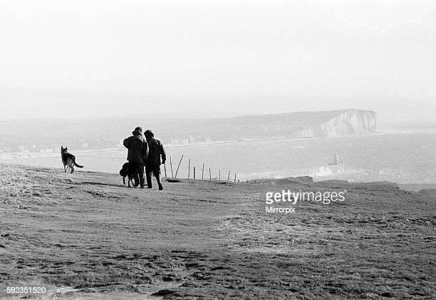 Police with tracker dogs search cliff tops and harbour for missing Lord Lucan now wanted on a murder charge Richard John Bingham 7th Earl of Lucan...