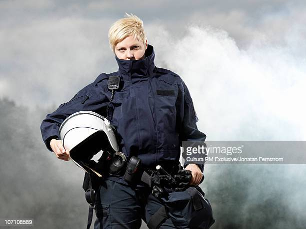 Police woman in uniform