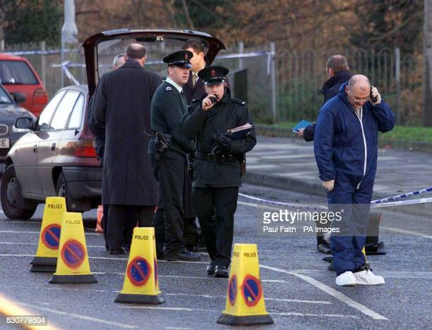 Police work at the scene of the shooting on the Forthriver road North Belfast where former police agent William Stobie an exUlster Defence...
