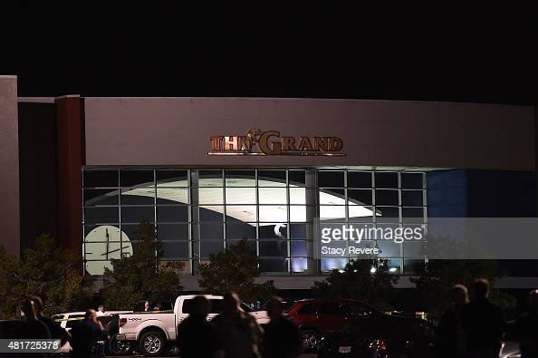 Police work outside of the Grand Theatre on July 23 2015 in Lafayette Louisiana Three people are dead and seven more injured after a gunman opened...