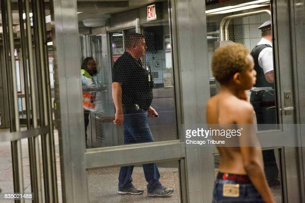 Police work the scene where a 23yearold man was shot at the Jackson Red Line station on Thursday Aug 17 2017 in Chicago Ill