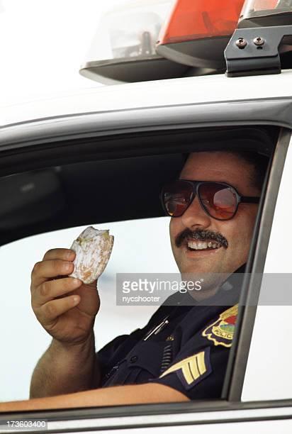 Policeman and doughnut
