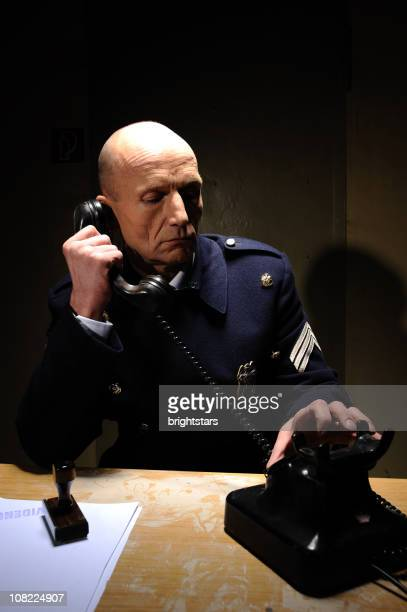 Policeman on the phone
