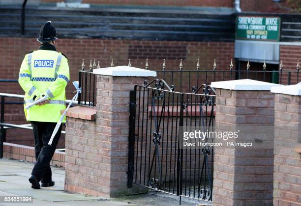 A policeman outside Shrewsbury House Youth Club Everton where a 16 yearold boy died after being stabbed outside the youth club
