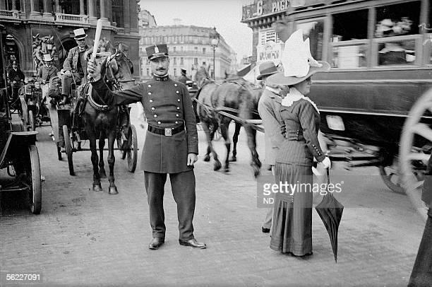 Policeman Paris Place de l'Opera Around 1910