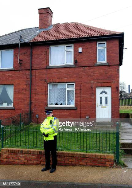 A policeman stands outside the home of nineyearold Shannon Matthews in Dewsbury West Yorkshire who failed to return home on Tuesday