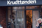 Policemen secure the area around a building hosting the cultural center Krudttonden in Copenhagen Denmark where shots were fired on February 14 2015...