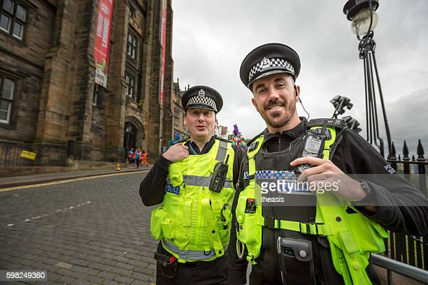 Policement at the Jazz and Blues Festival Parade, Edinburgh