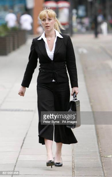 Policewoman Salena Holgate outside Manchester's Minshall Street Crown Court where she faces charges of supplying offering to supply and possession of...