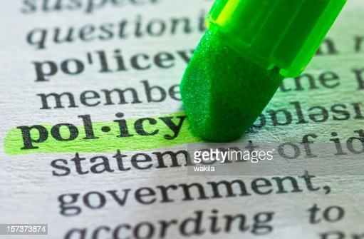 policy definition highlighted in dictionary