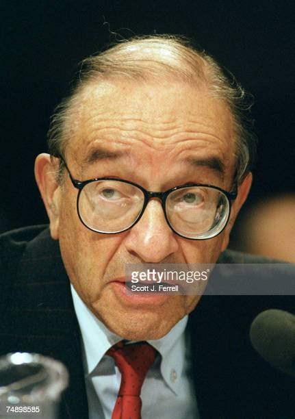 POLICYFederal Reserve Chairman Alan Greenspan testifies before the Joint Economic Committee during a hearing on general monetary policy oversight...