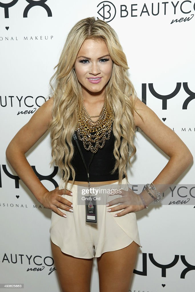 Polina Beregova attends NYX Cosmetics Talent Lounge At BeautyConNYC at Pier 36 on May 24, 2014 in New York City.