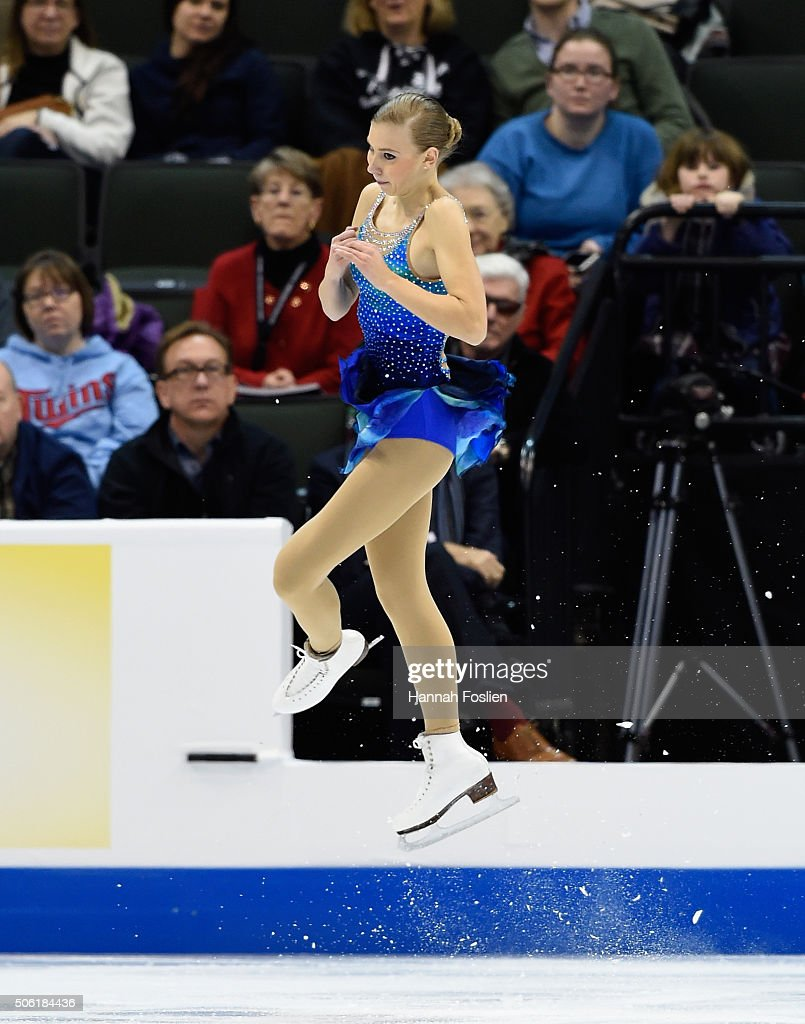 Polina Edmunds competes in the Ladies' Short Program at the 2016 Prudential U.S. Figure Skating Championship on January 21, 2016 at Xcel Energy Center in St Paul, Minnesota.
