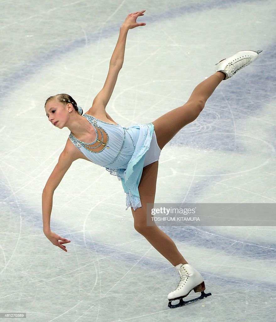 Polina Edmunds of the US performs during her free skating in the women's singles at the world figure skating championships in Saitama on March 29, 2014.