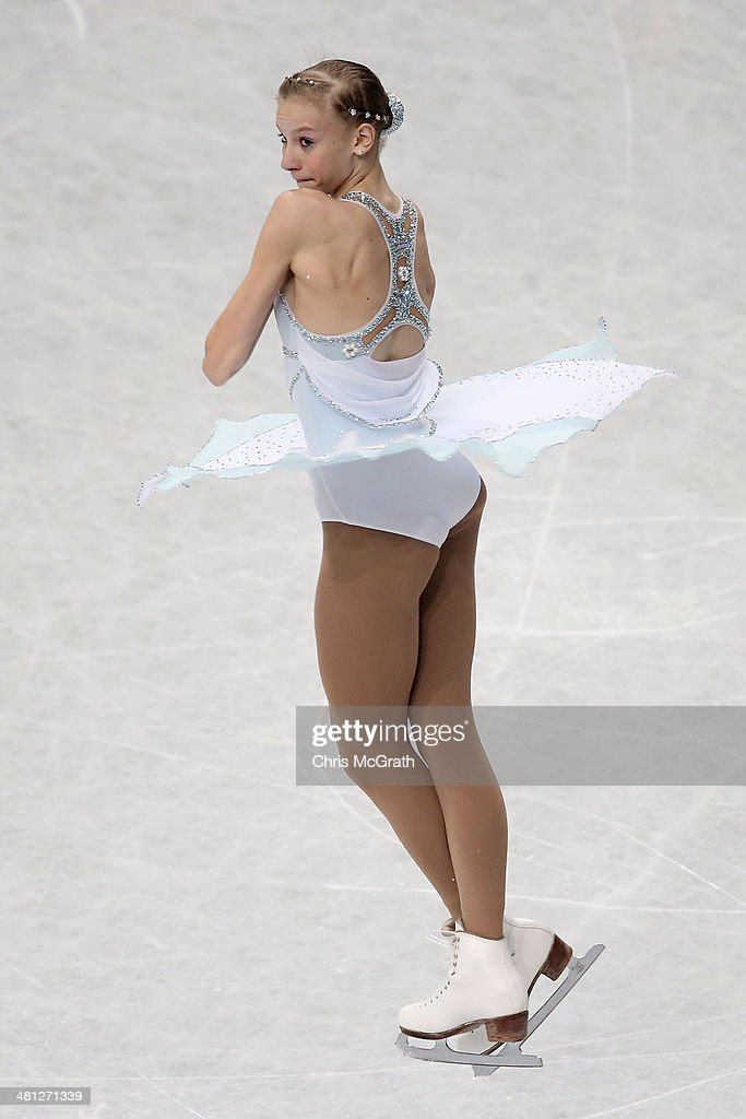 <a gi-track='captionPersonalityLinkClicked' href=/galleries/search?phrase=Polina+Edmunds&family=editorial&specificpeople=11711394 ng-click='$event.stopPropagation()'>Polina Edmunds</a> of the USA competes in the Ladies Free Skating during ISU World Figure Skating Championships at Saitama Super Arena on March 29, 2014 in Saitama, Japan.