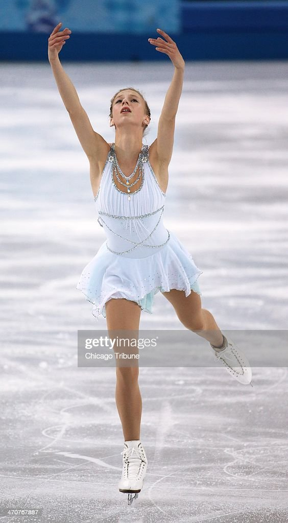 Polina Edmunds of the USA performs in the ladies' figure skating free skate at the Iceberg Skating Palace during the Winter Olympics in Sochi, Russia, Thursday, Feb. 20, 2014.