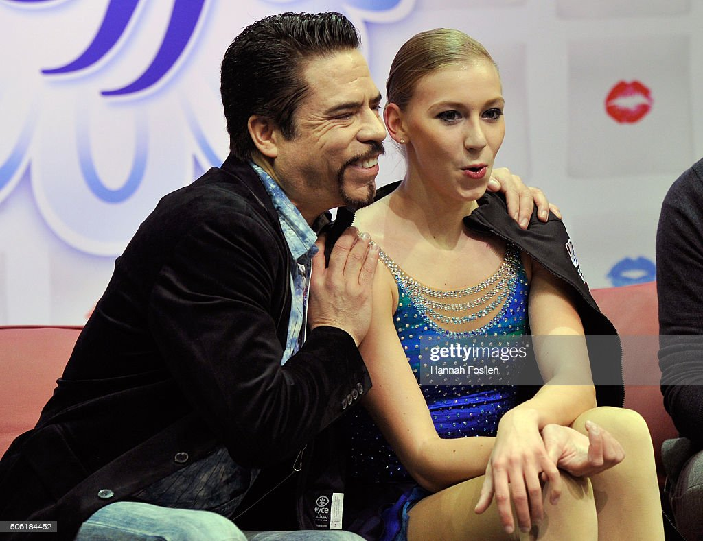 <a gi-track='captionPersonalityLinkClicked' href=/galleries/search?phrase=Polina+Edmunds&family=editorial&specificpeople=11711394 ng-click='$event.stopPropagation()'>Polina Edmunds</a> reacts to her scores after competing in the Ladies' Short Program at the 2016 Prudential U.S. Figure Skating Championship on January 21, 2016 at Xcel Energy Center in St Paul, Minnesota.