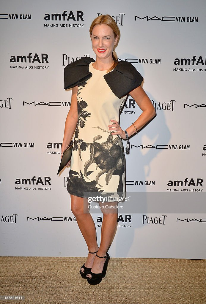 Polina Proshkina attends the amfAR Inspiration Miami Beach Party at Soho Beach House on December 6, 2012 in Miami Beach, Florida.