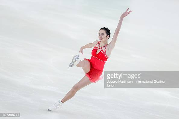 Polina Tsurskaya of Russia competes during the Junior Ladies Free Skating on day three of the ISU Junior Grand Prix of Figure Skating on September 17...