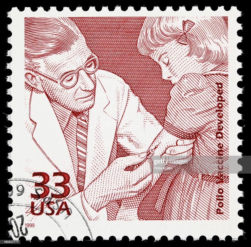Polio vaccine postage stamp