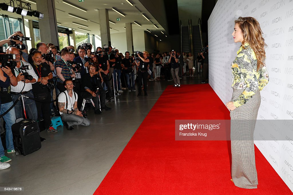 Polish actress Kamilla Baar attends the Marc Cain fashion show spring/summer 2017 at CITY CUBE Panorama Bar on June 28, 2016 in Berlin, Germany.