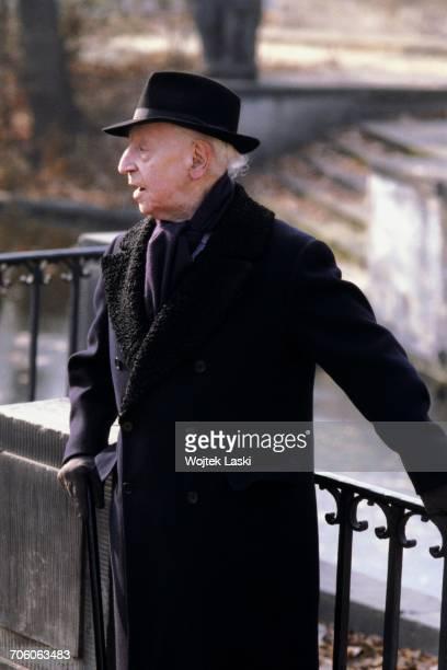 Polish American classical pianist Artur Rubinstein in Lazienki Park Warsaw Poland 1979
