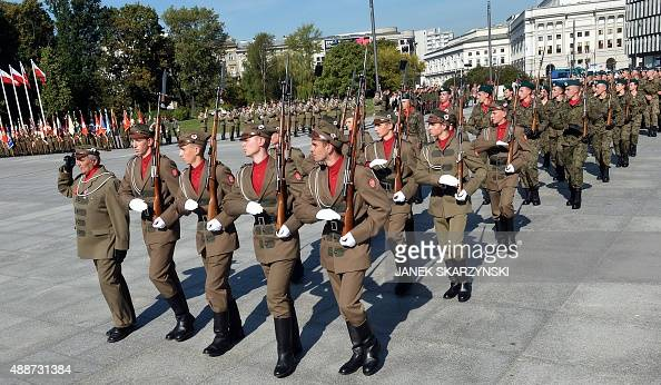 Polish cadets attend a parade in the Polish capital Warsaw to mark the 76th anniversary of the Soviet Union's invasion of Poland during World War II...