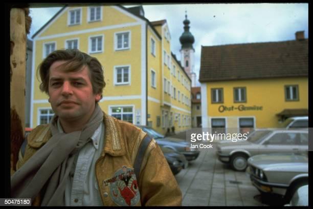 Polish cinematographer Bartek Frykowski who has sued Charles Manson for 1969 murder of his father Voytek standing in street
