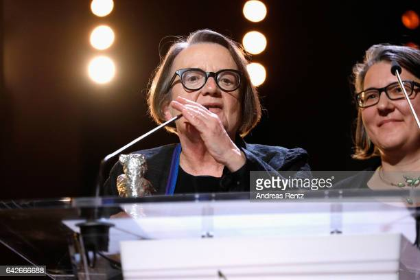 Polish director Agnieszka Holland and her daughter and codirector Kasia Adamik are awarded with Silver Bear Alfred Bauer Prize for a feature film...