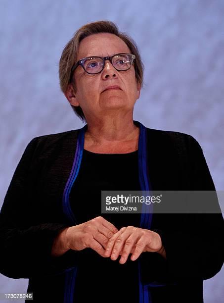 Polish film director Agnieszka Holland attends the closing ceremony of the 48th Karlovy Vary International Film Festival on July 06 2013 in Karlovy...