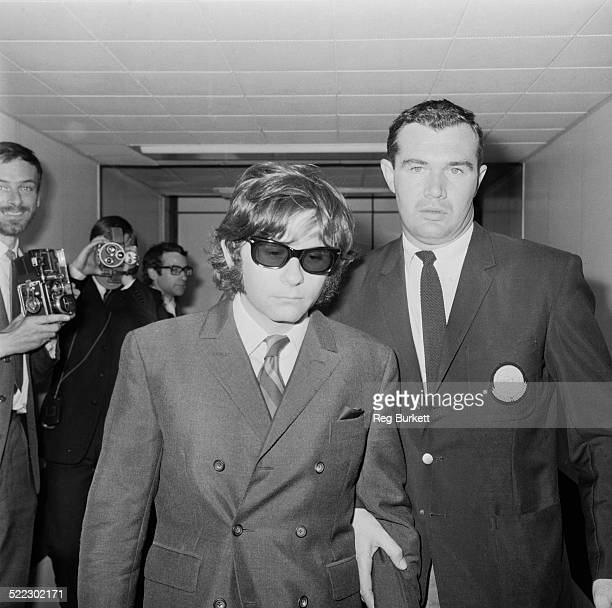Polish film director and writer Roman Polanski at London Airport on his way to Los Angeles where his wife Sharon Tate has been murdered London 11th...