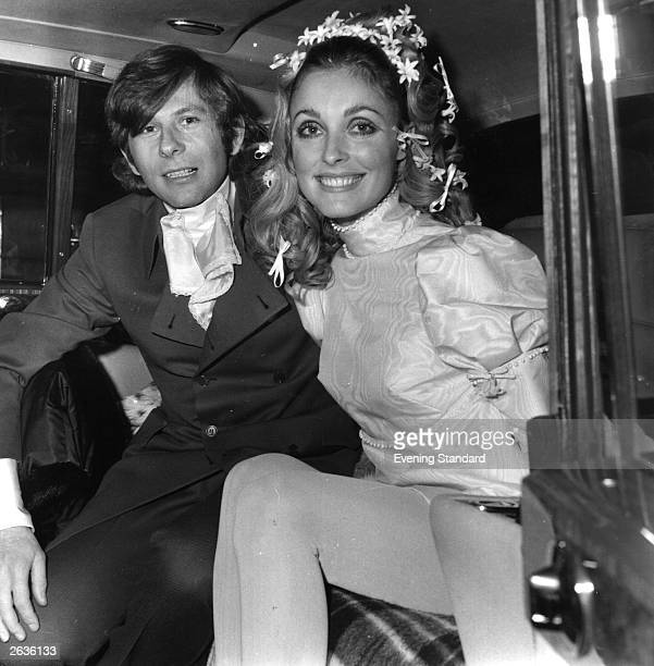 Polish film director Roman Polanski and American actress Sharon Tate at their wedding She was subsequently murdered by members of Charles Manson's...
