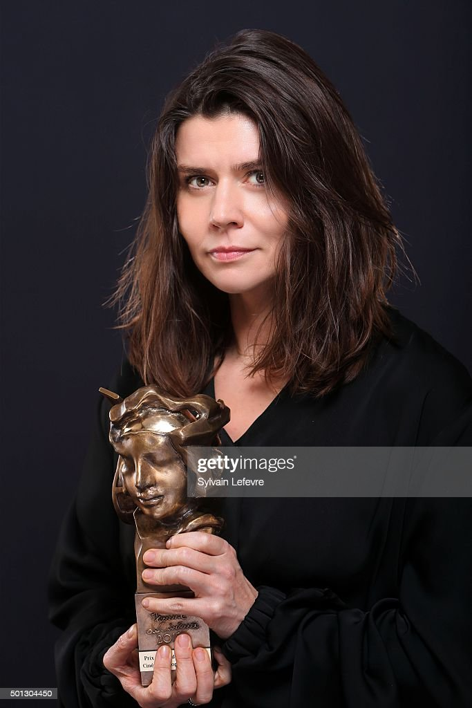 Polish filmmaker Malgorzata Szumowska is photographed for Self Assignment with the her award 'Femme de cinéma Sisley/Les Arcs' which is an award committed to the promotion of women who are making today?s European cinema, during Les Arcs European Film Festival on December 13, 2015 in Les Arcs, France.
