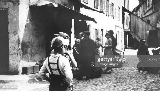 Polish ghetto Vilna USSR World War II 19391944 Formerly the foremost centre of rabbinical learning in Europe the Polish city of Vilna was occupied...