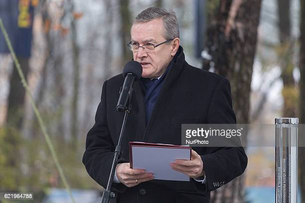 Polish minister of culture and national heritage Piotr Glinski during the Foundation Stone Laying Ceremony forJozef Pilsudski museum inSulejowek...