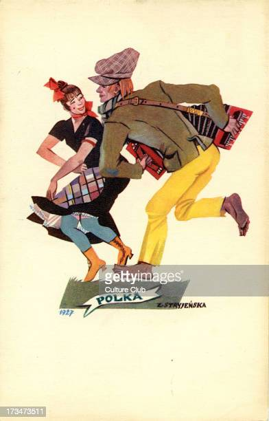 the Polka Shows a man and a woman dancing the Polka by Z Stryjenska 1927