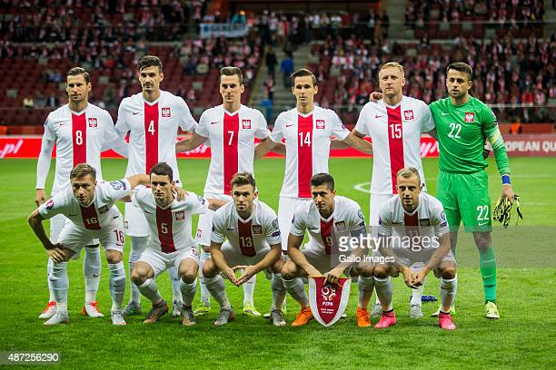 Polish National Team during the UEFA Euro 2016 Qualifying Round match between Poland and Gibraltar at the National Stadium on September 7 2015 in...