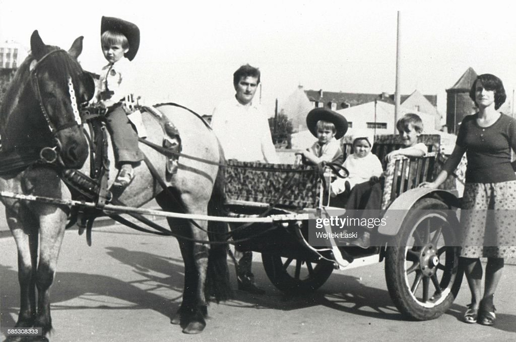 Polish politician and trade-union organizer <a gi-track='captionPersonalityLinkClicked' href=/galleries/search?phrase=Lech+Walesa&family=editorial&specificpeople=93677 ng-click='$event.stopPropagation()'>Lech Walesa</a> on holiday in Poland with his wife, Danuta, and their sons, Przemyslaw, Bogdan, Slawomir and Jaroslaw, circa 1977.