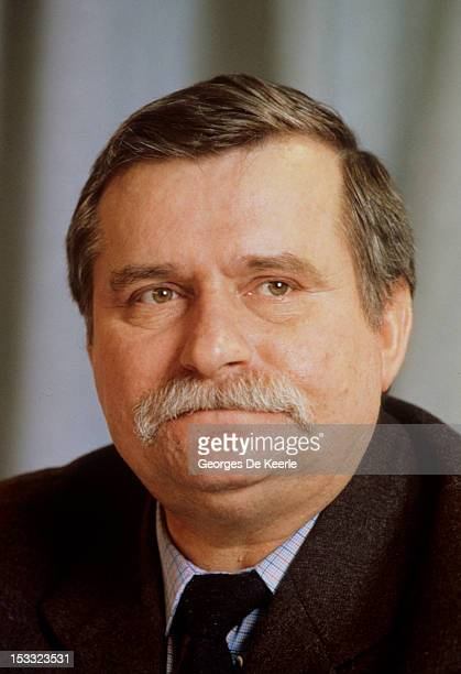 Polish politician Lech Walesa during a visit to a Polish community in Britain 1st December 1989