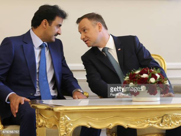 Polish President Andrzej Duda and the Emir of Qatar Sheikh Tamim bin Hamad Al Thani held a private discussion during the Emir's official visit to...