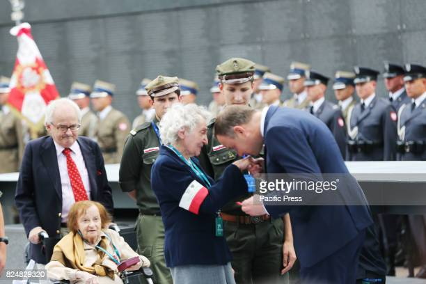 Polish President Andrzej Duda met with survivors who fought in the Warsaw Uprising in 1944 on July 31st 2017 as part of the 73rd anniversary of the...