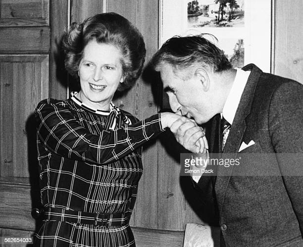 Polish Prime Minister Jozef Czyrek kissing the hand of British Prime Minister Margaret Thatcher as they meet at 10 Downing Street London June 20th...
